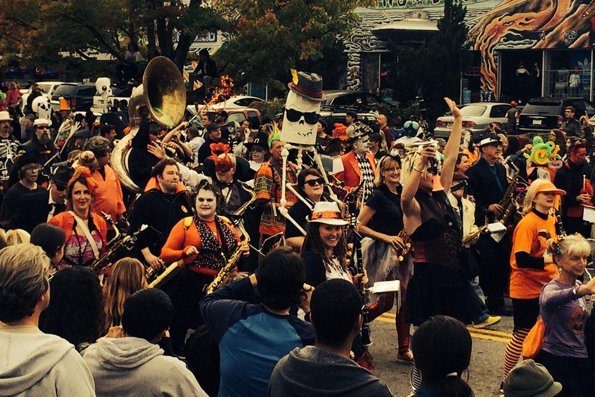 A photo of Little Five Points' venerable Halloween Parade