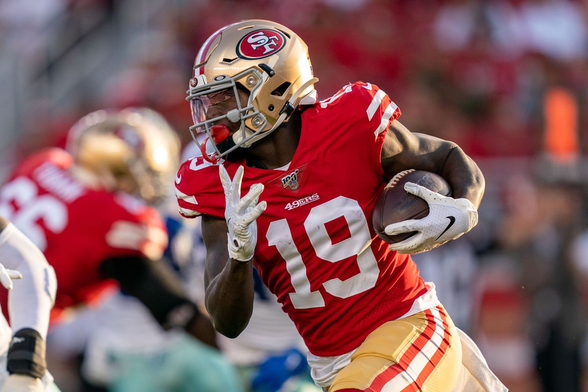 San Francisco 49ers wide receiver Deebo Samuel during the second quarter against the Dallas Cowboys at Levi's Stadium.