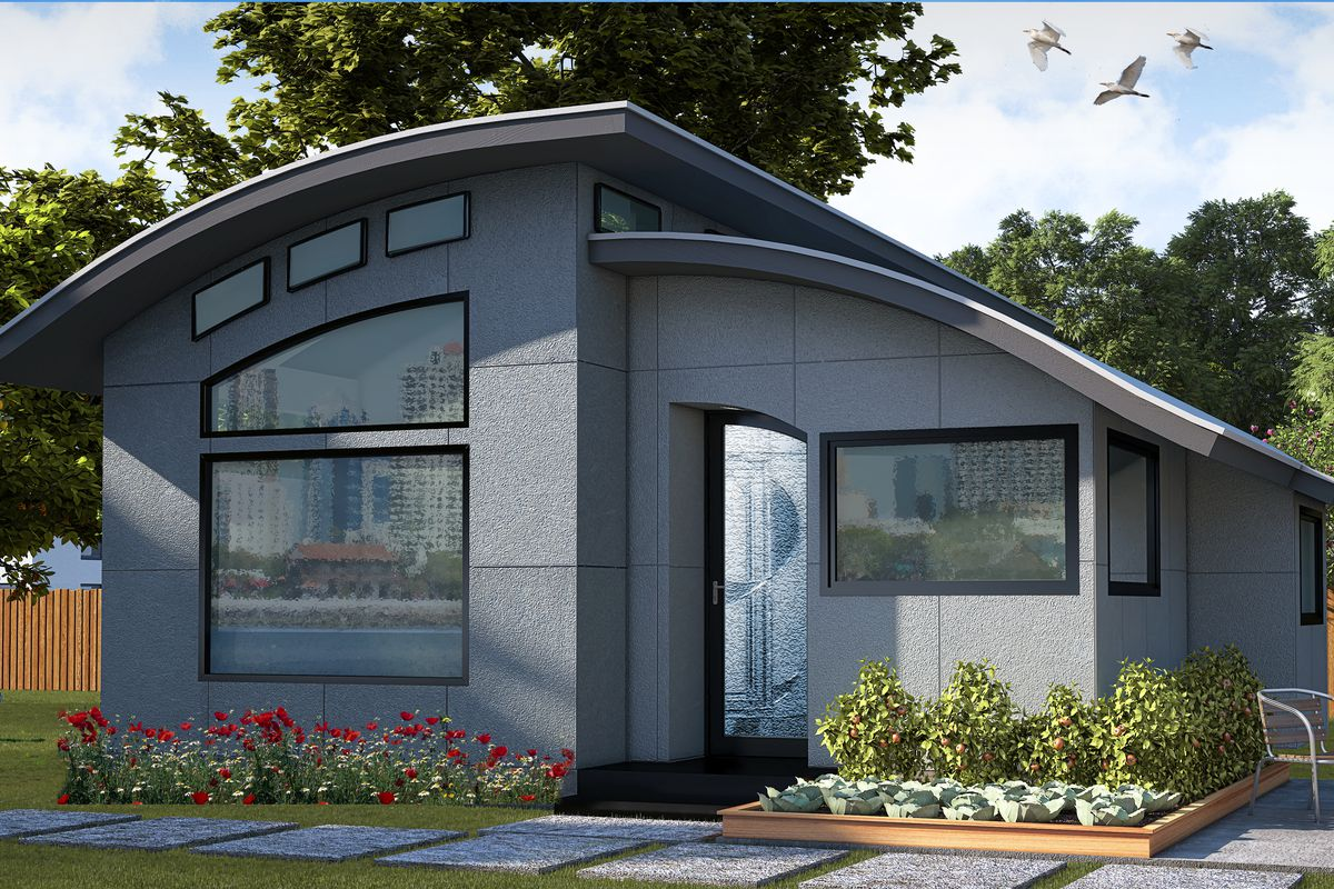 A Rendering Of The Flex House Green Builder Media