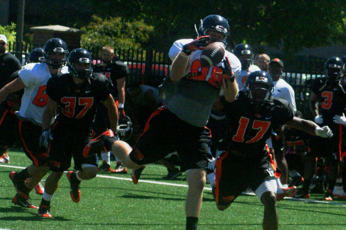 Oregon St.'s stable of big TEs & H-Backs should be a force in the red-zone this season.