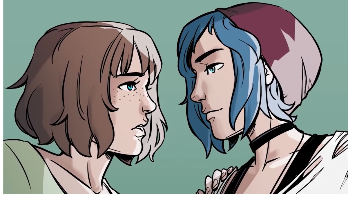 Max and Chloe in the Life is Strange comic series