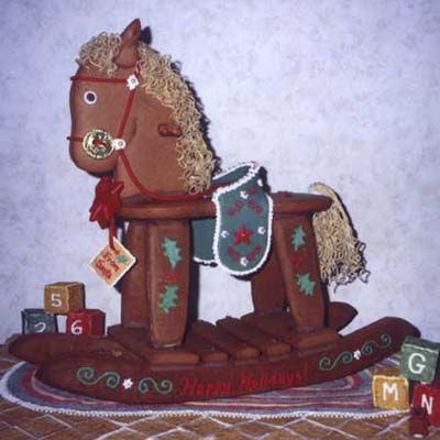 Gingerbread rocking horse.