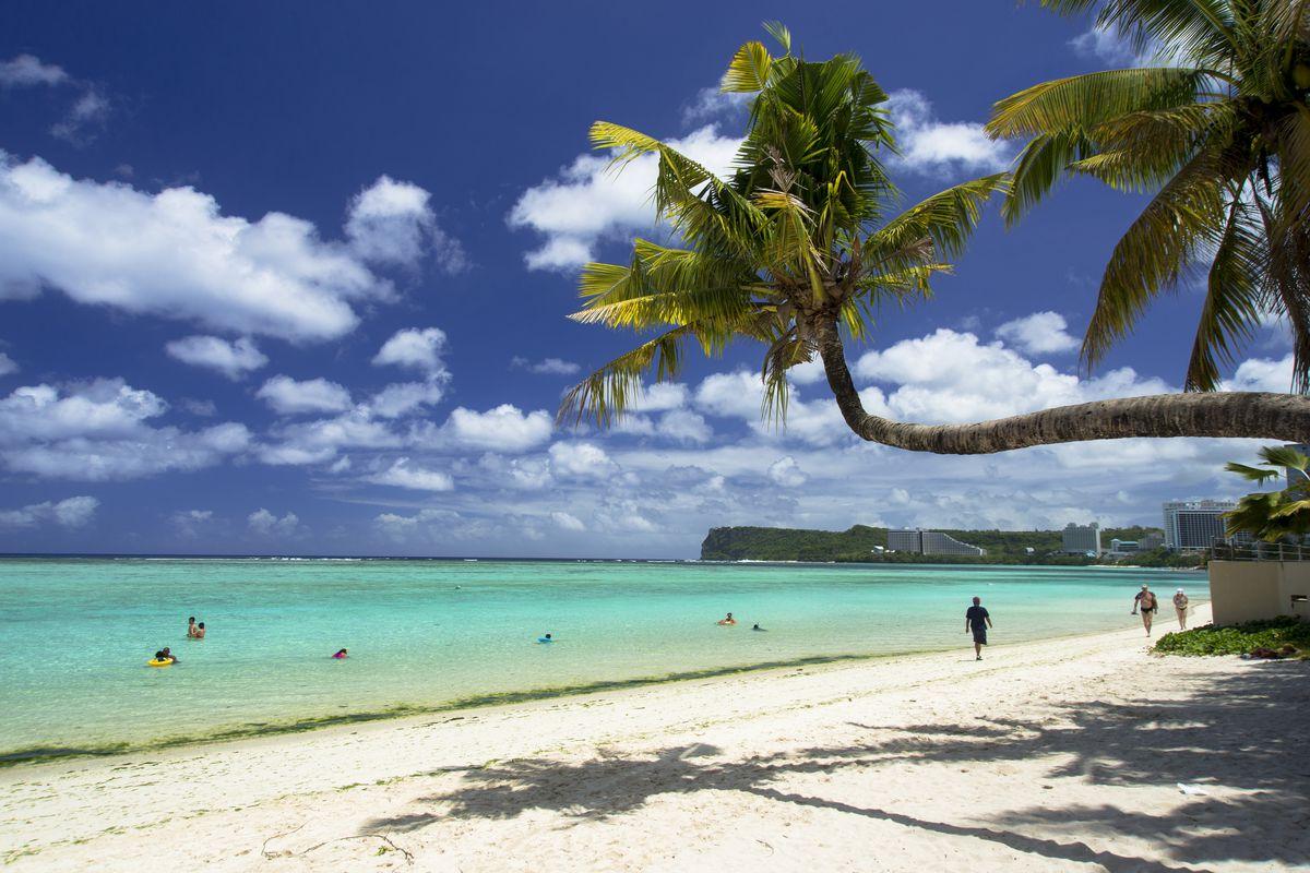 A beach in Guam.