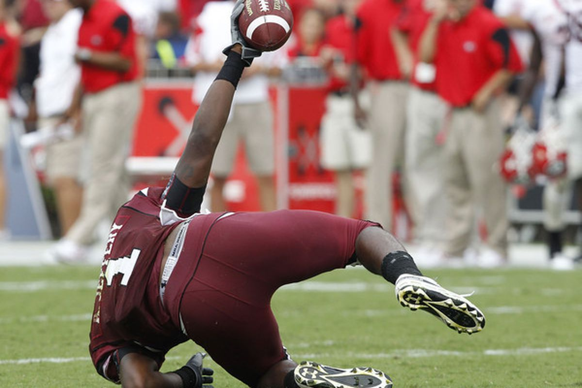 Wide receiver Alshon Jeffery of the South Carolina Gamecocks could be a nice addition for the St. Louis Rams.