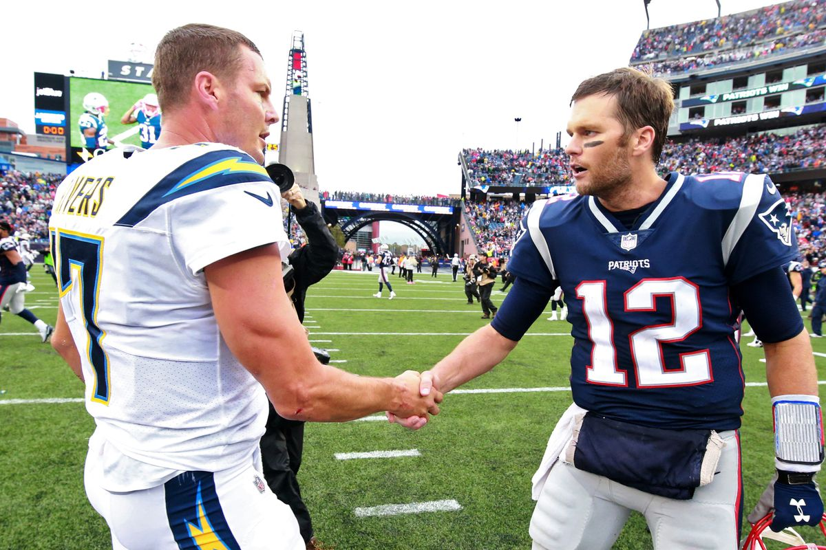 Los Angeles Chargers Vs New England Patriots at Gillette Stadium