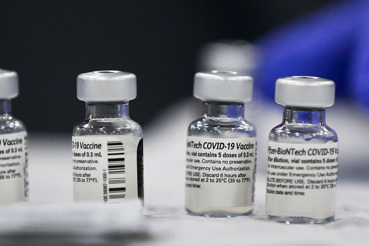 Vials containing the Pfizer-BioNTech COVID-19 vaccine in Utah.