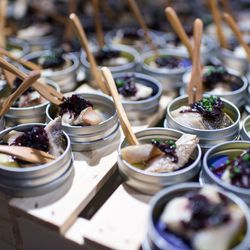 Dozens of restaurants prepared dishes for the event's attendees.