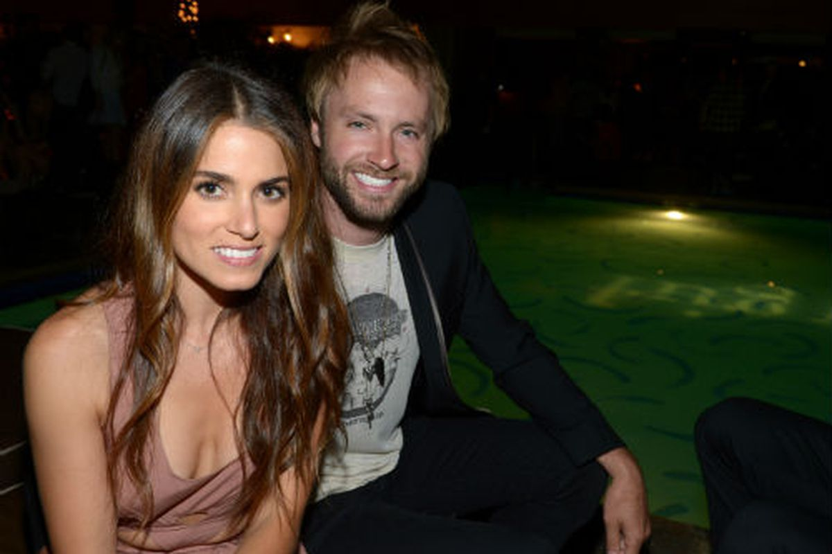 Nikki Reed and her husband, musician Paul McDonald, at a party at the Roosevelt. Photo via Getty.