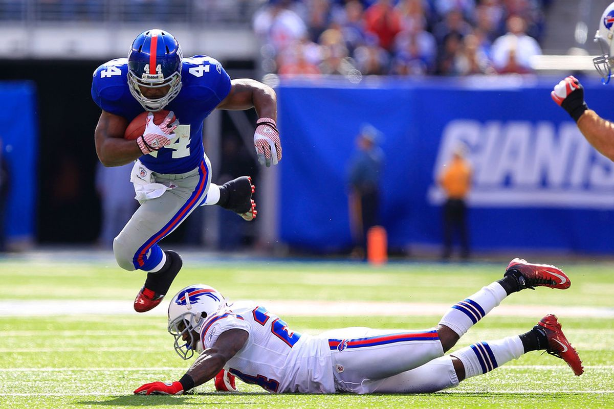 As of right now Ahmad Bradshaw should not be in your Fantasy Football lineup this weekend.  (Photo by Chris Trotman/Getty Images)