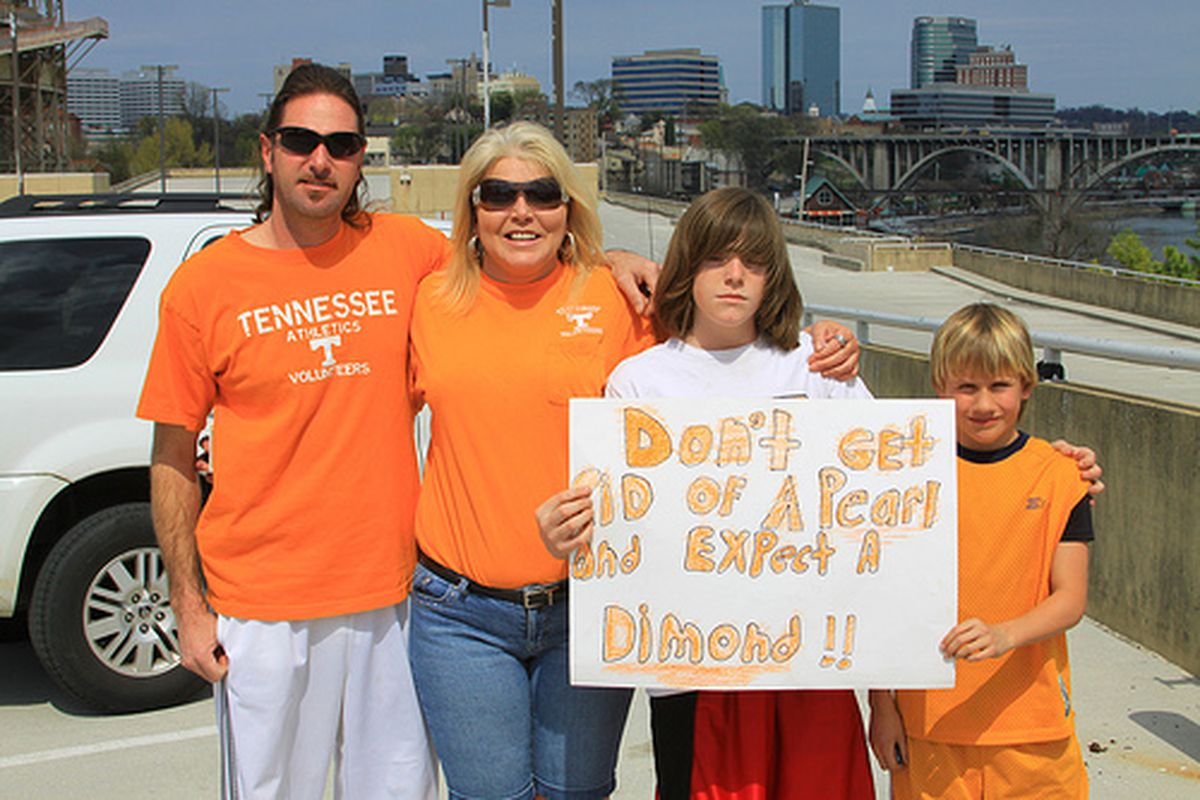 """Rally to Keep Bruce Pearl, 3/20/11 (via <a href=""""http://www.flickr.com/photos/wy_jackrabbit/5544271186/sizes/m/in/set-72157626309720418/"""">Wyoming_Jackrabbit</a>)"""
