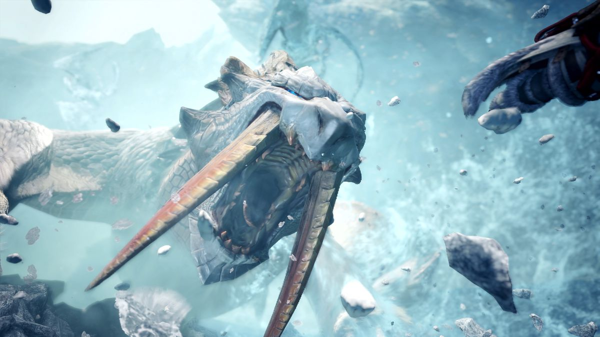 In Monster Hunter S Iceborne Expansion Even The Frozen Terrain Is