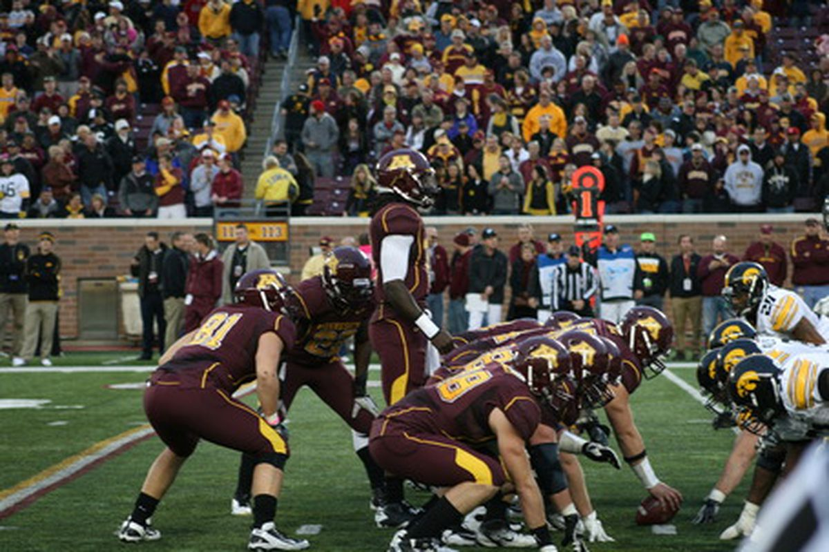 """Looking for the Victory Formation against Iowa (yet again). <a href=""""http://assets.sbnation.com/assets/769258/IMG_0899_medium.JPG"""">TheDailyGopher.com</a>"""