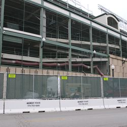 11:30 a.m. Work taking place along the south end (Addison Street) side of the ballpark -