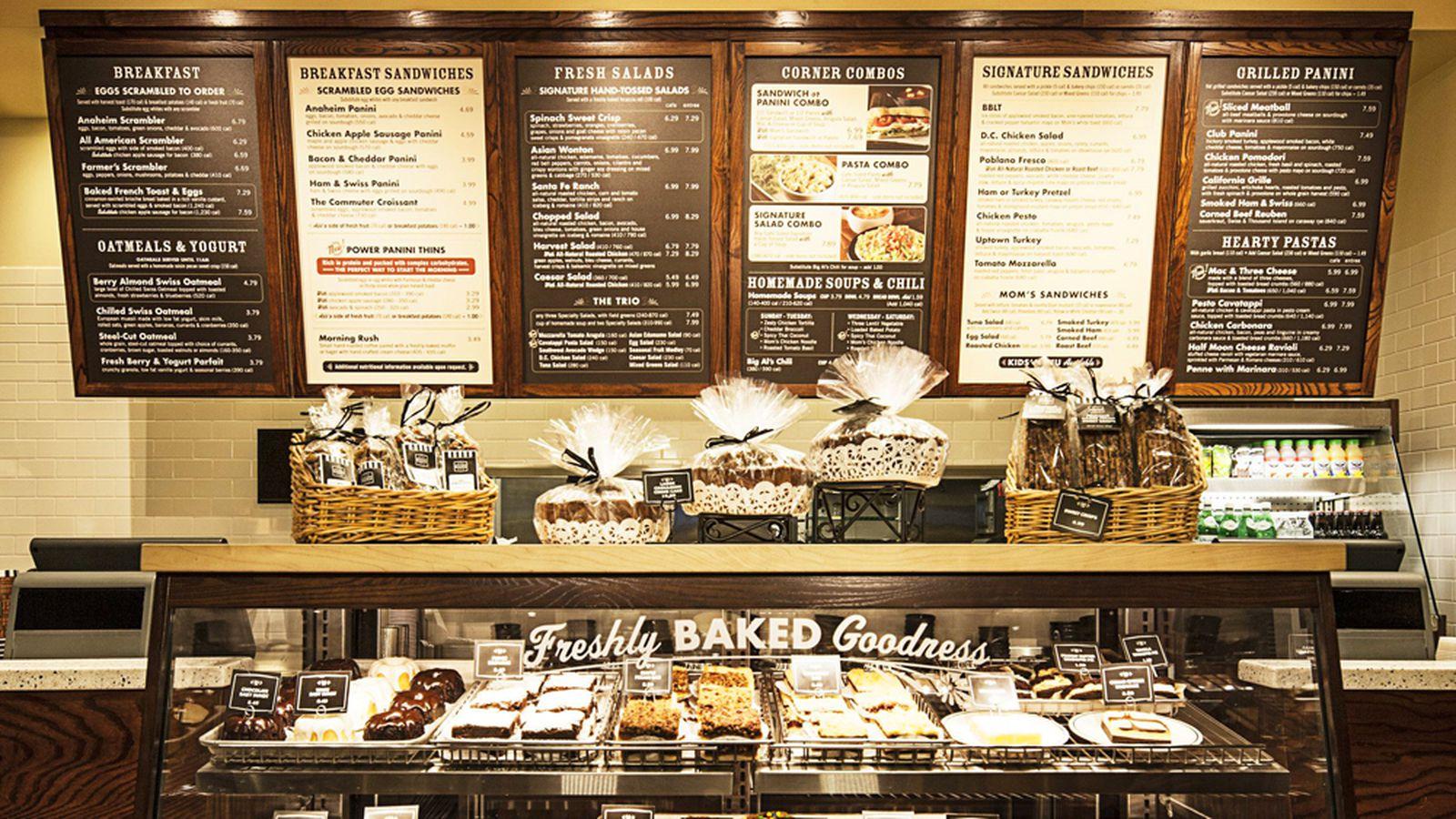 Corner Bakery Cafe Menu Chicago