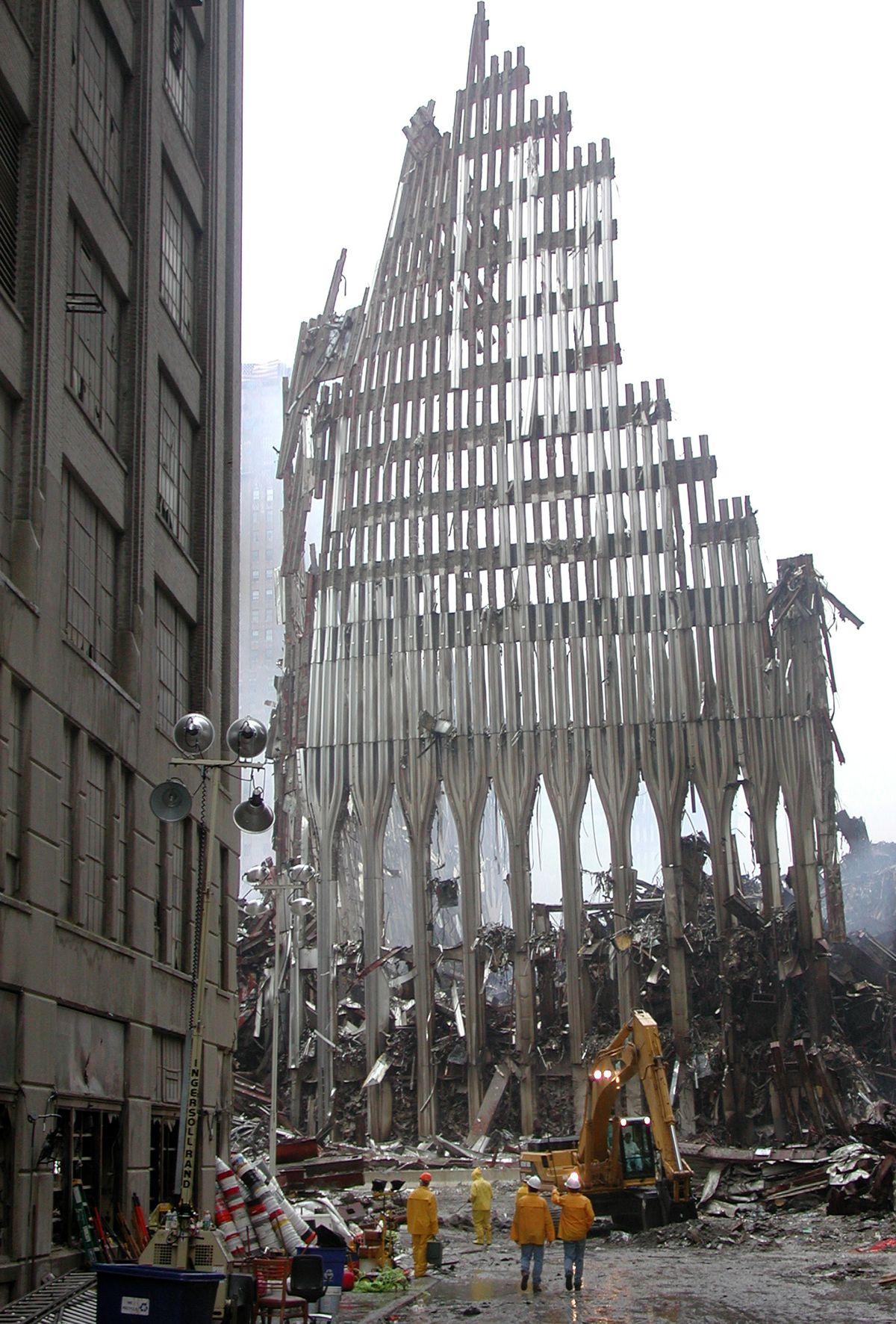 Part of the World Trade Center on 9/11