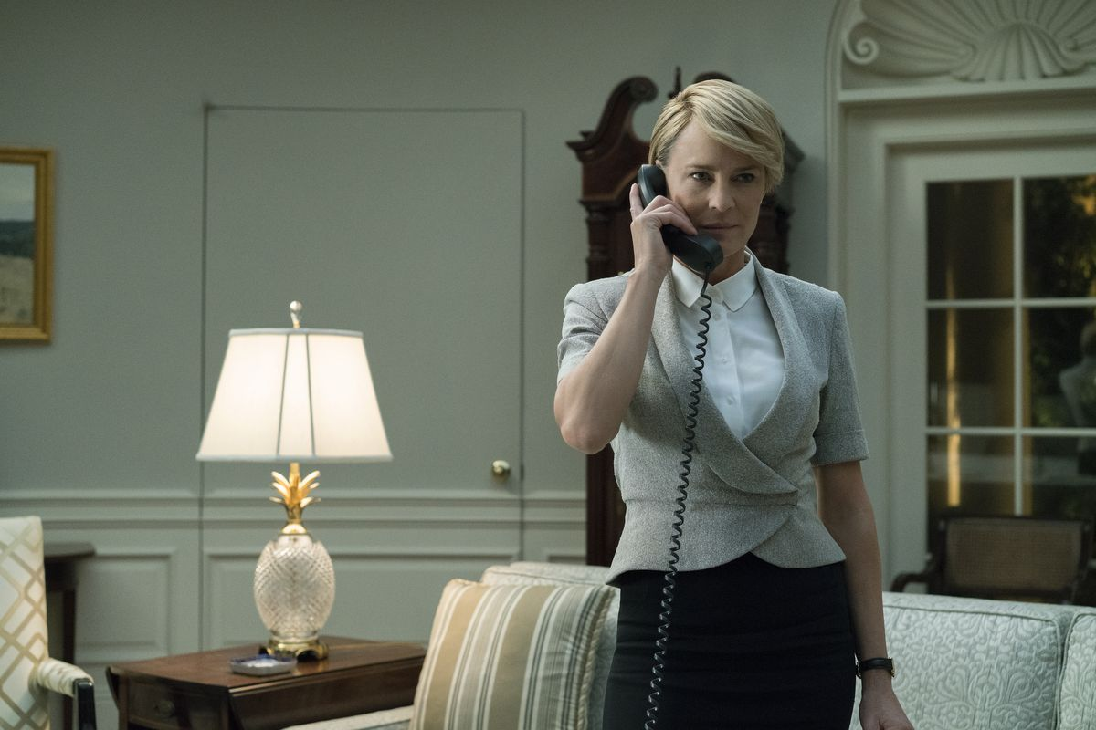 Robin Wright as Claire Underwood in Season 5 of House of Cards.