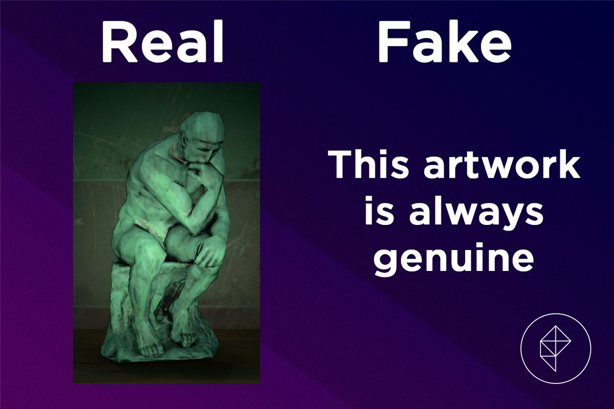 A graphic showing the Familiar Statue in Animal Crossing and confirming that it is always real