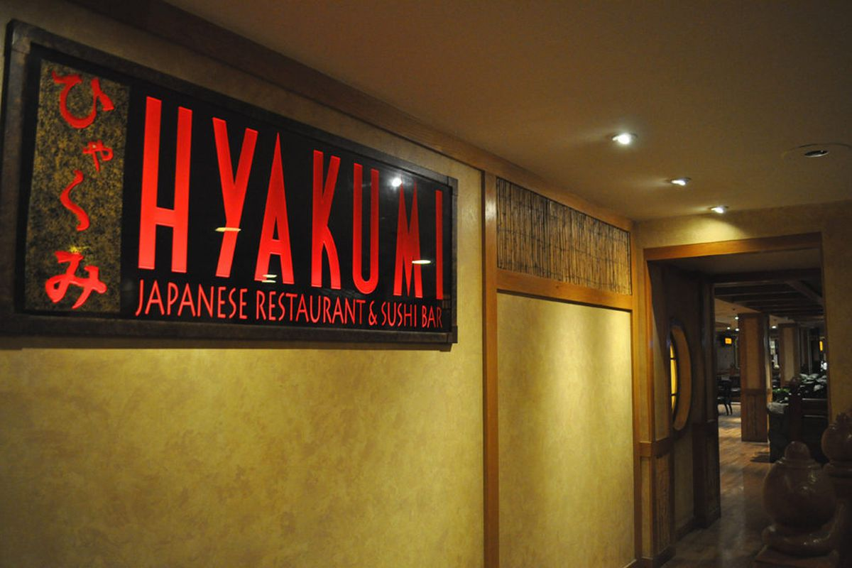 Hyakumi Japanese restaurant and sushi bar has shuttered at Caesars Palace.