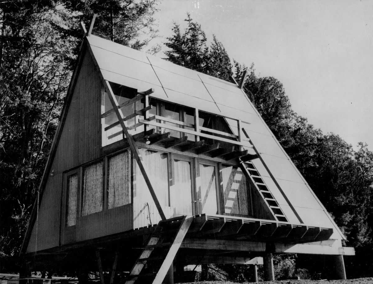 A frames a history of the vacation houses and where to find them 381 a frame cabin 1967 denver postgetty images jeuxipadfo Image collections