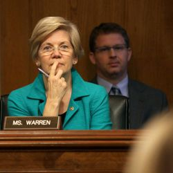 Sen. Elizabeth Warren, D-Mass. listens on Capitol Hill in Washington, Wednesday, Sept. 10, 2014, during the Senate Aging Committee hearing to examine older Americans and student loan debt.