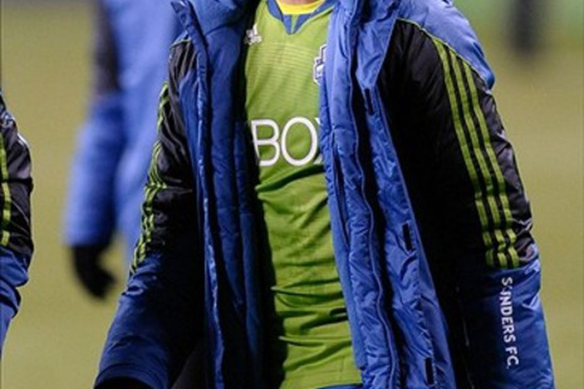 Twice recognized as the best defensive player by Sounder at Heart Osvaldo Alonso will have more competition for honors than ever before. Mandatory Credit: Steven Bisig-US PRESSWIRE