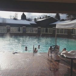 Finally we got to Sun Valley and I immediately went to the hot tub. I felt like a Japanese Snow Monkey sitting in this thing. I love it.