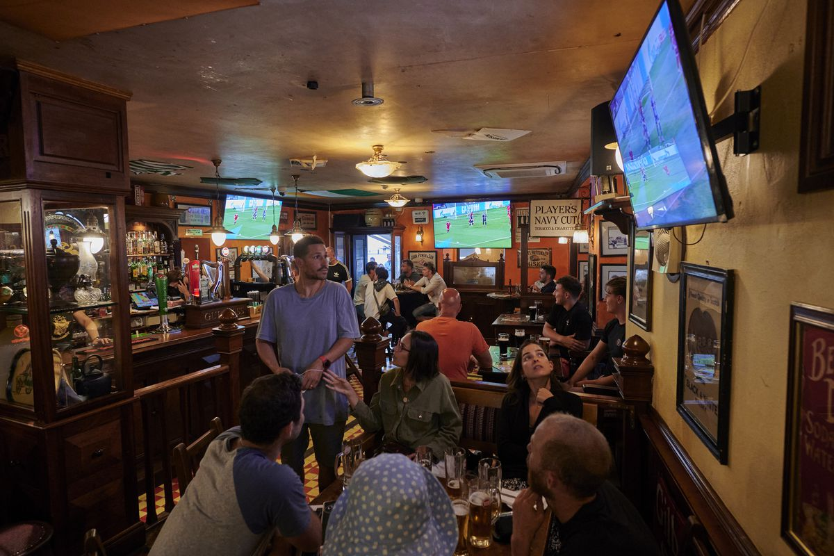 Fans Watch The UEFA Champions League Final