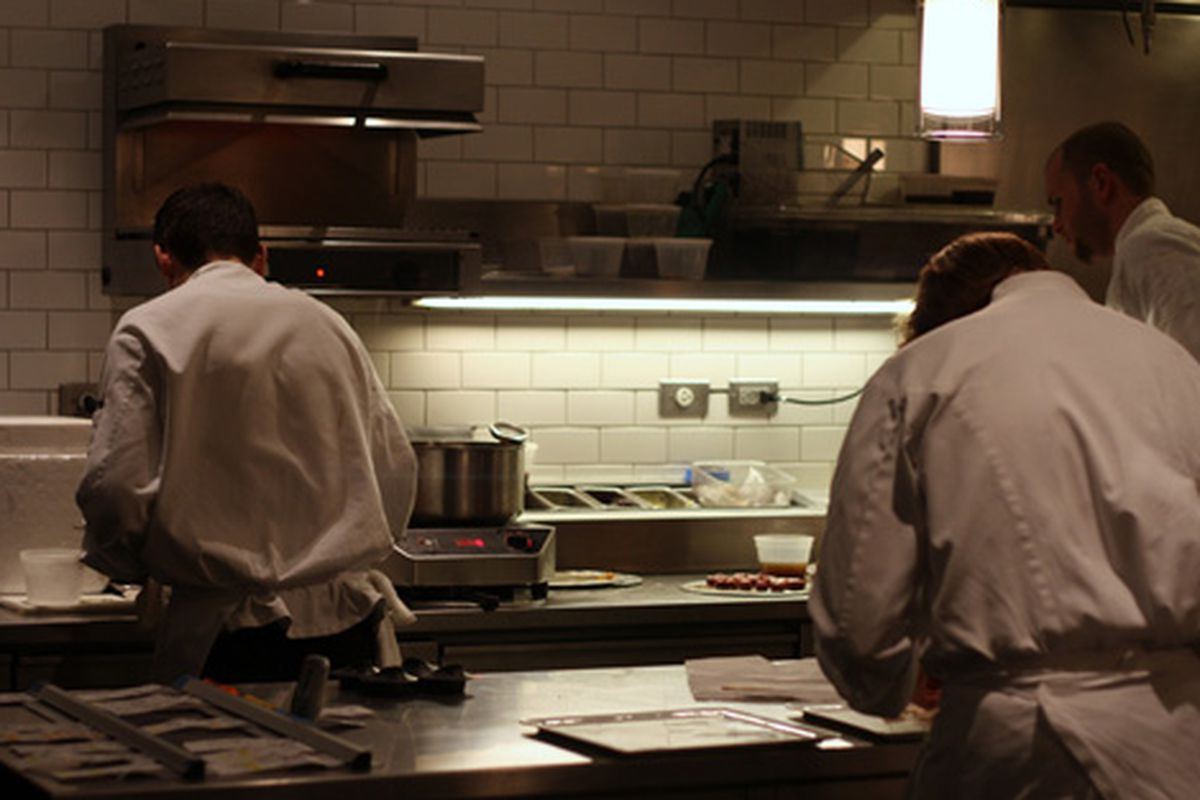 Chicago: The kitchen at Alinea.