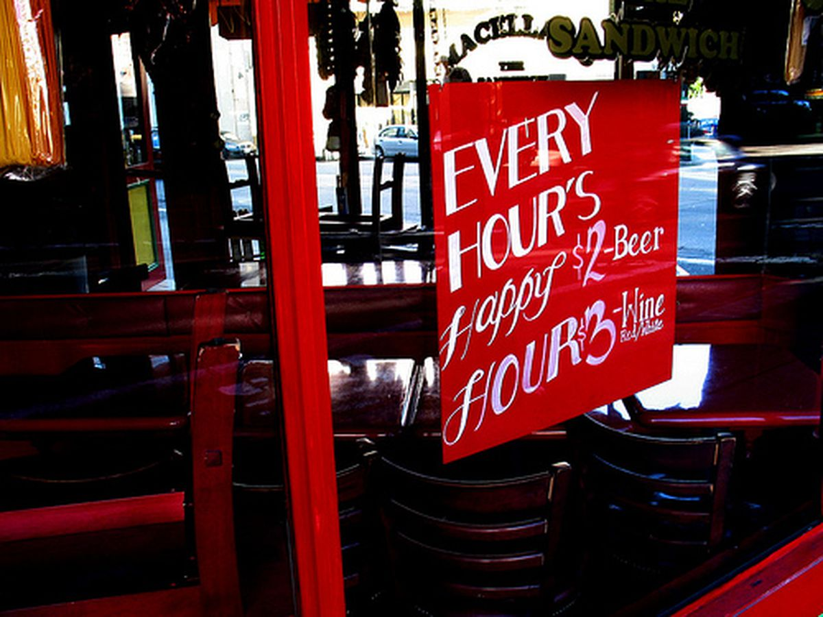 Every hour's happy hour.