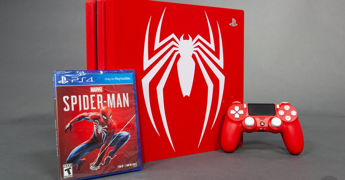 Spider Man Limited Edition Ps4 Pro Bundle Detailed In