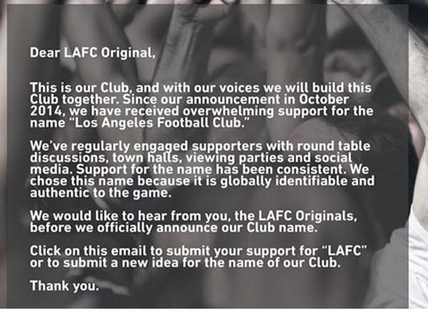 LAFC name letter