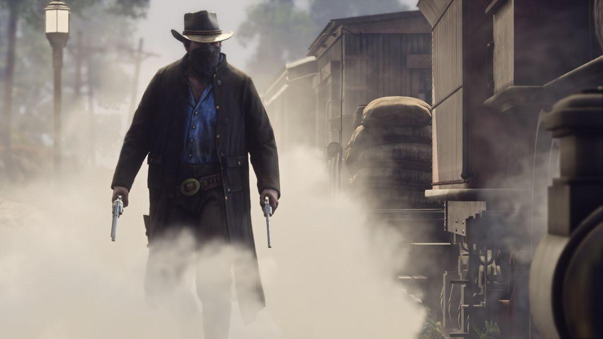 Red Dead Redemption 2 - masked gunman
