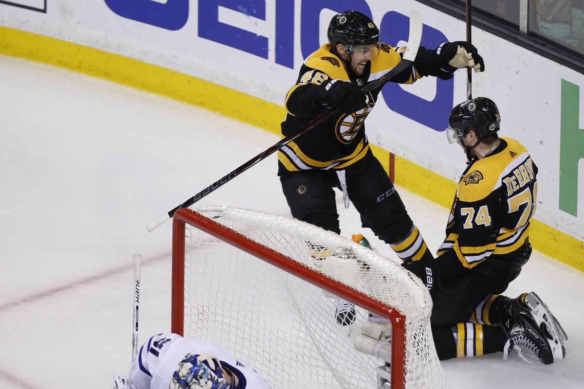 Maple Leafs Vs Bruins 2018 Boston Wins First Round Series In 7 Games Sbnation Com