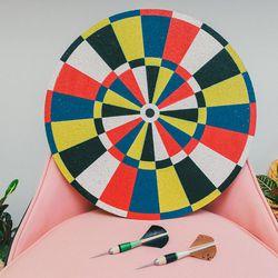 """Fredericks & Mae dart board, <a href=""""http://www.comingsoonnewyork.com/comingsoon/fredericks-mae-dart-board"""">$140</a>; Darts, $44"""