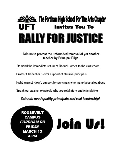The flier advertising today's rally.