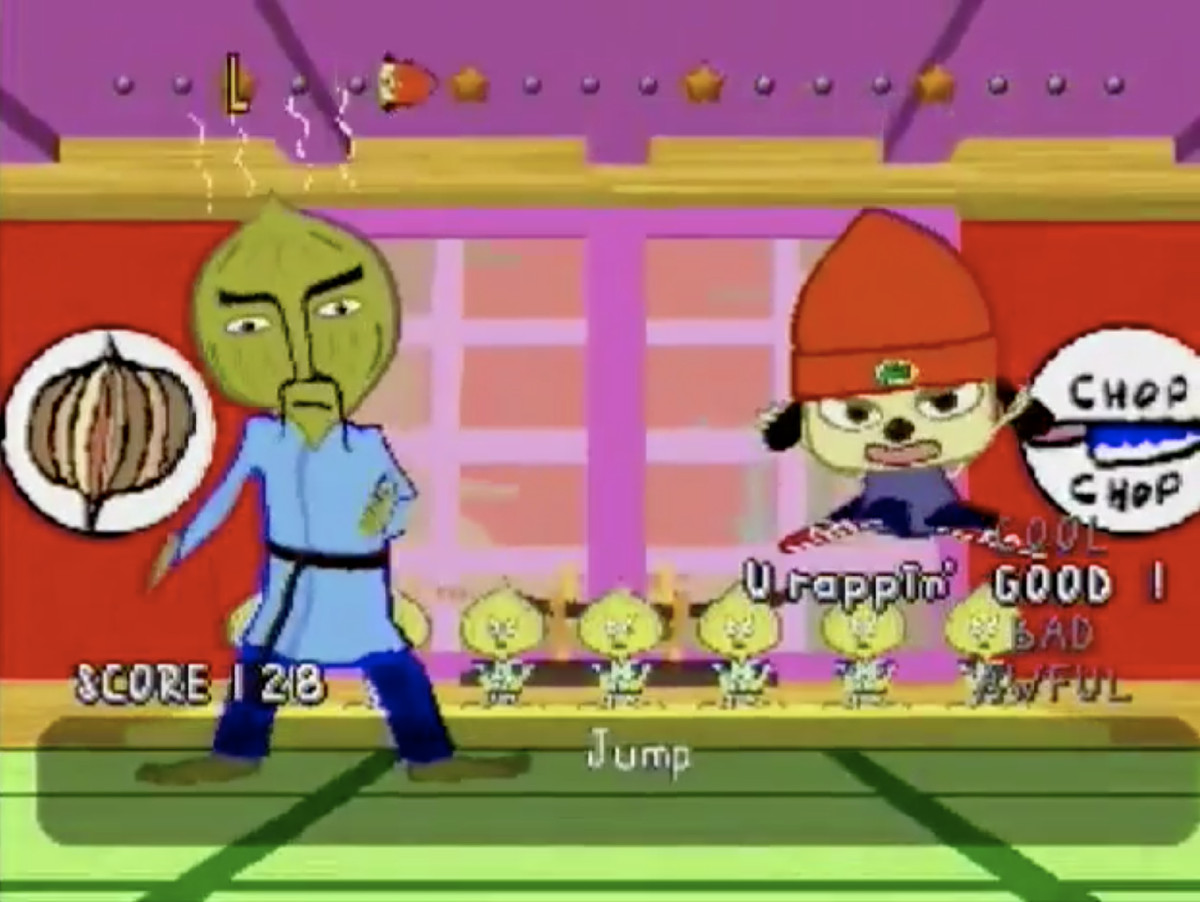 PaRappa the Rapper - PaRappa and Slit Slit Master Onion
