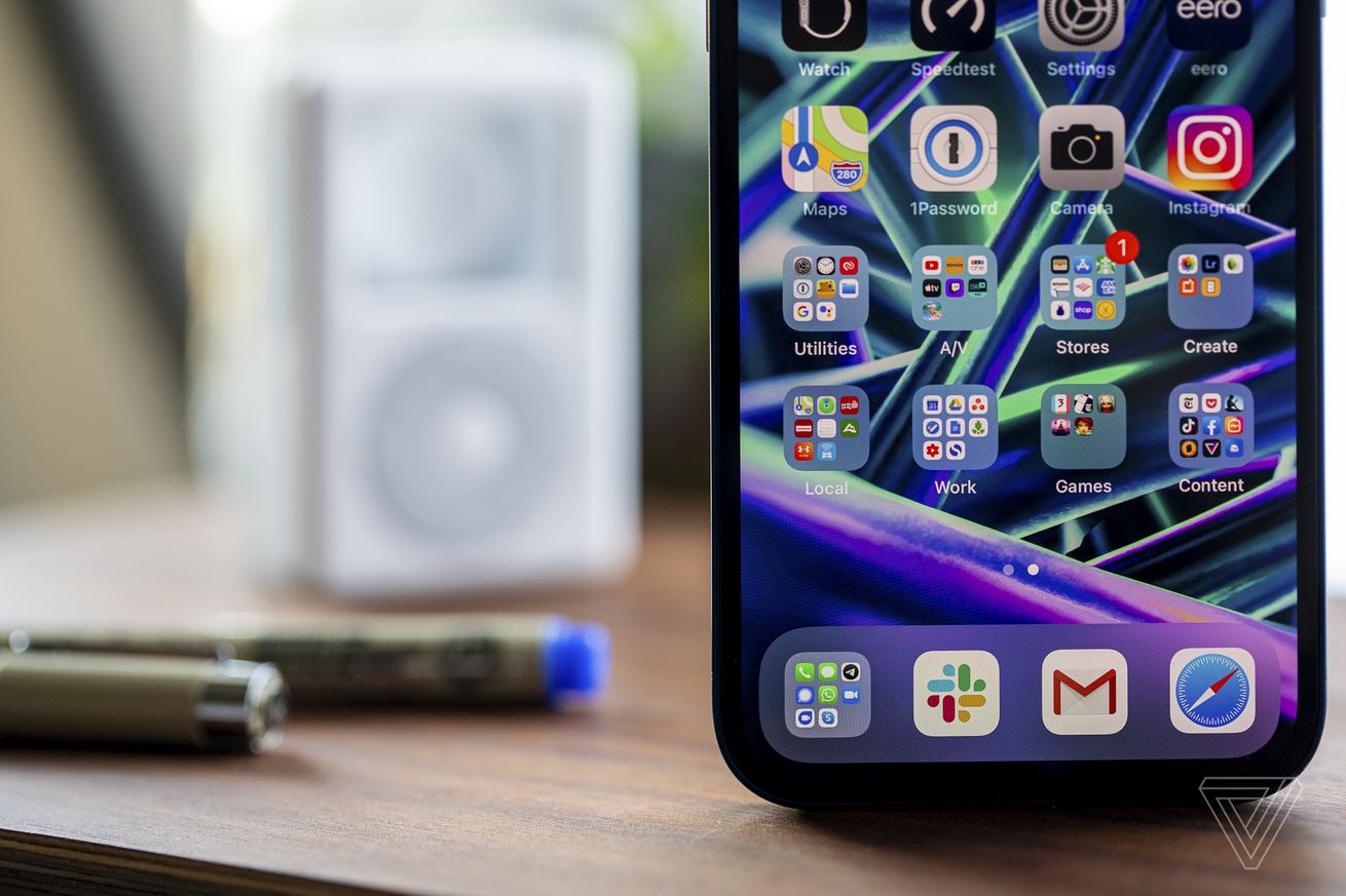 The iPhone 12's OLED screen is excellent.