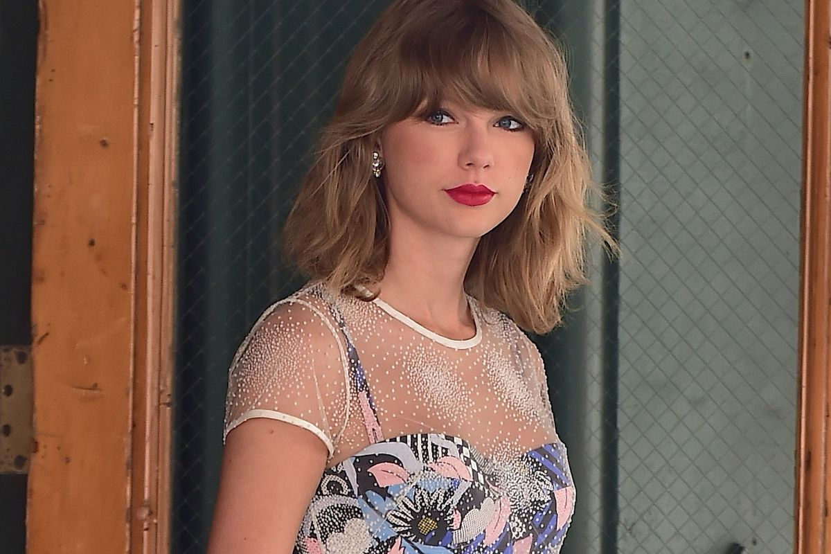 Taylor Swift in New York in July.
