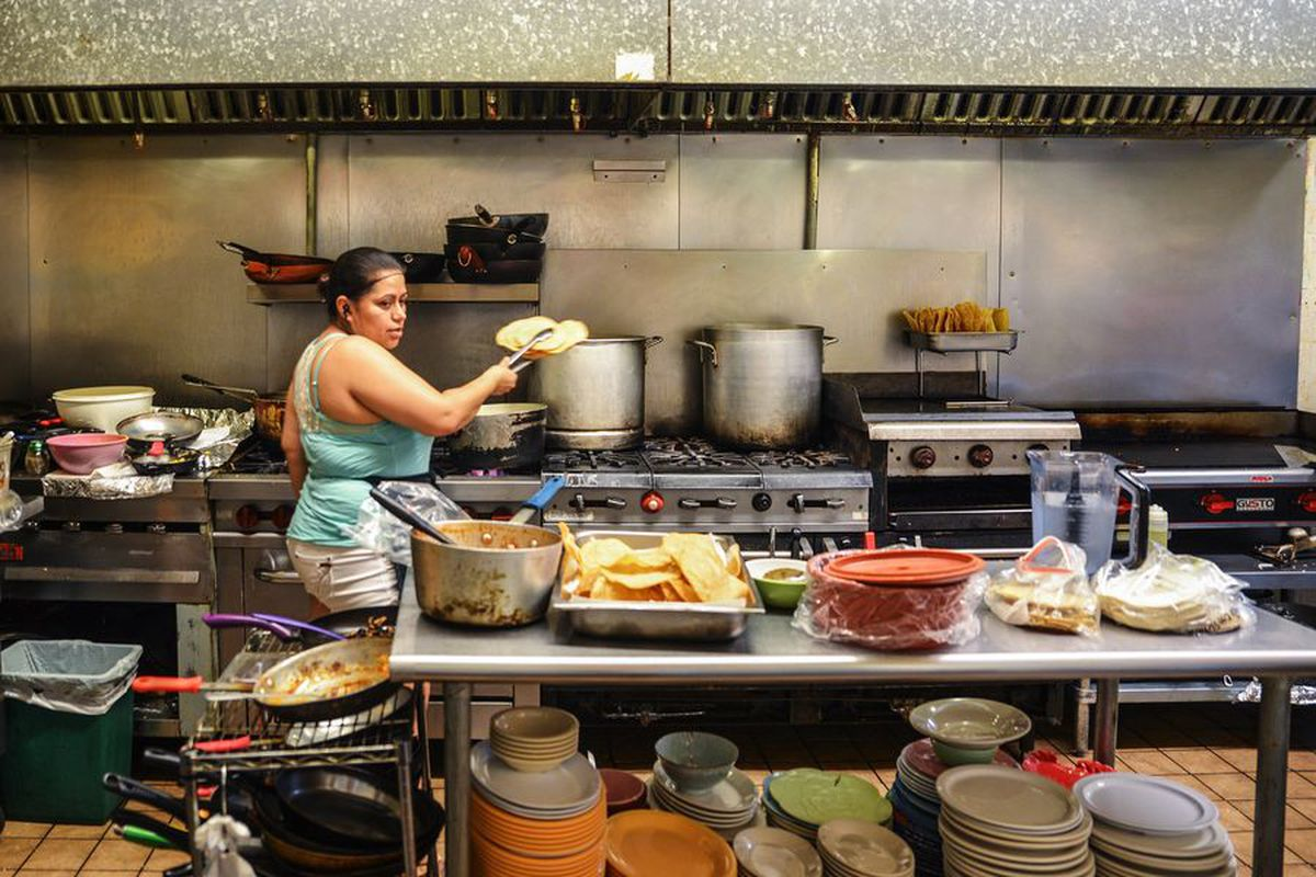 Tamale House East's kitchen