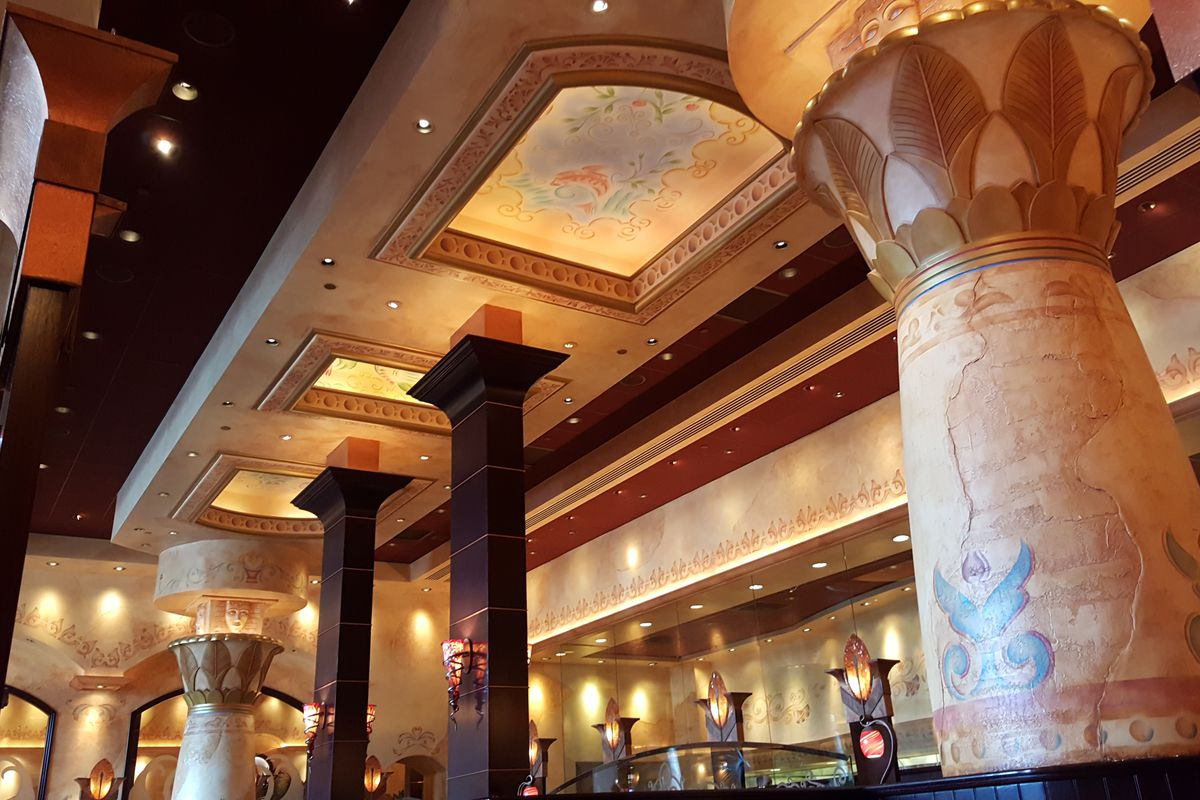 cheesecake factory interiors are weird and wonderful all thanks to