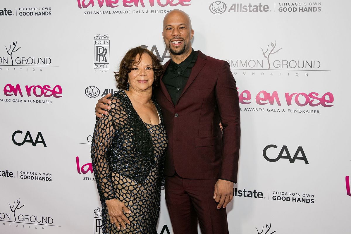 CHICAGO, IL - APRIL 23: (L-R) Dr. Mahalia Ann Hines and Common attend the Common Ground Gala on April 23, 2016 in Chicago, Illinois. (Photo by Jeff Schear/Getty Images for Common Ground Foundation) ORG XMIT: 632215575