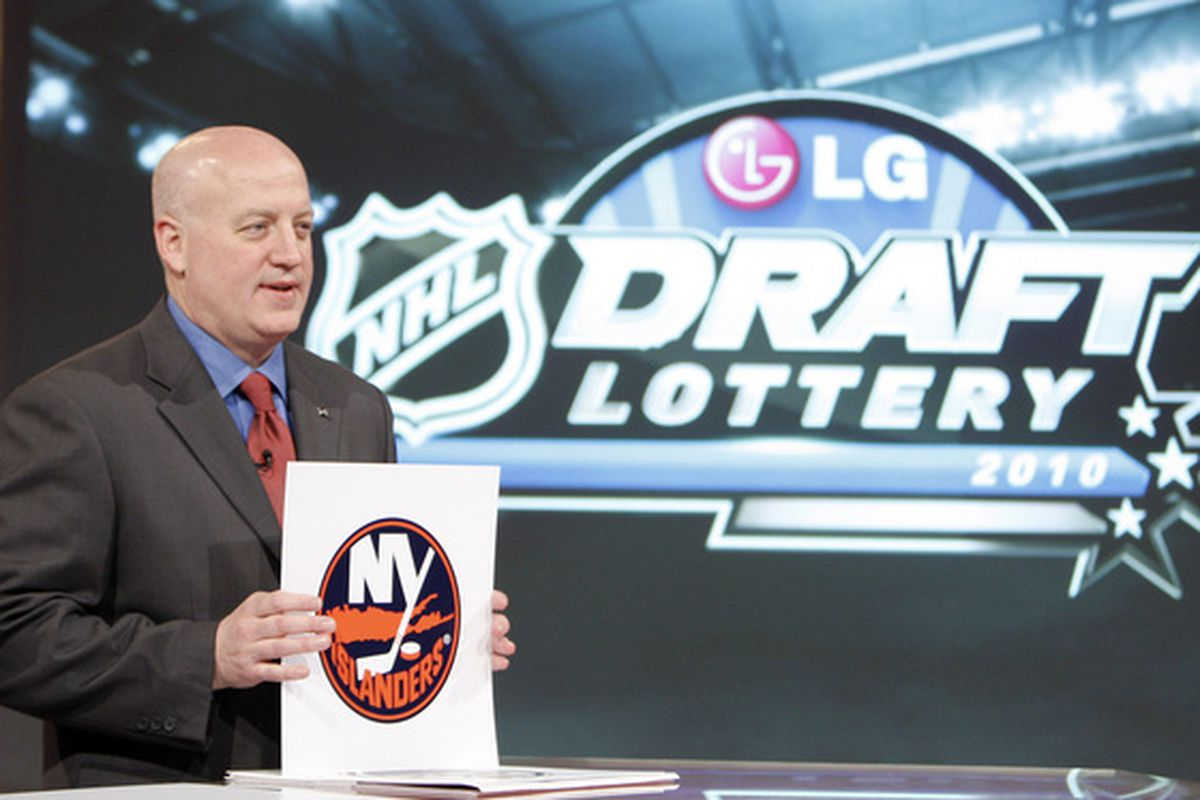 Deputy Commissioner Bill Daly, during the Greatest Tank Battles Awards Ceremony. (Photo by Abelimages / Getty Images for NHL)