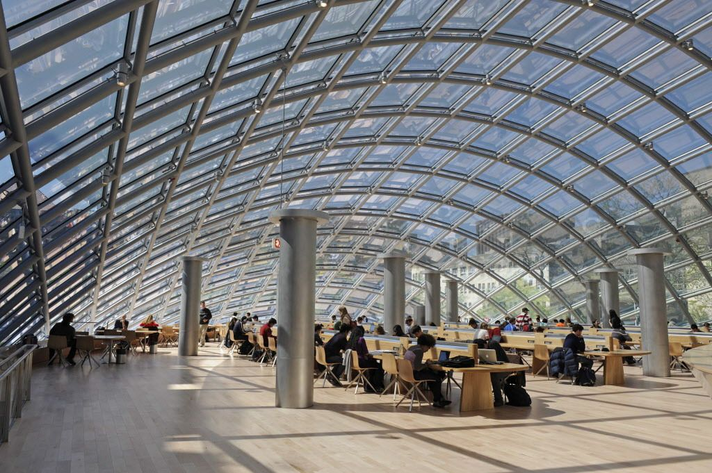 The University of Chicago's Joe and Rika Mansueto library is No. 9 on the list.   Sun-Times library