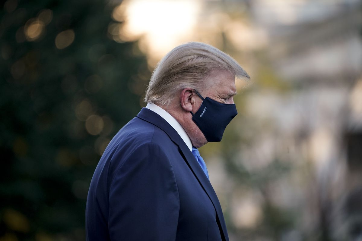 President Donald Trump leaves the White House for Walter Reed medical center to get treatment for Covid-19.