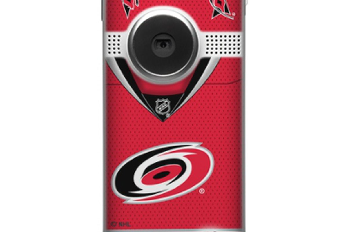 """New Carolina Hurricanes styled Flip Camera.  Check them out <a href=""""http://store.theflip.com/en-us/designs/view.aspx?product_id=3268&cat=pro_sports&subcat=nhl_designs&cid=m3160&source="""" target=""""new"""">here</a>"""