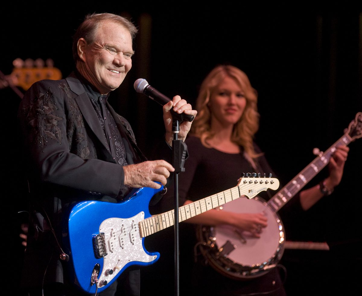 Glen Campbell performs during his The Goodbye Tour concert Thursday January 26, 2012 at the Rialto Square Theater in Joliet.   Tom Cruze~Sun-Times