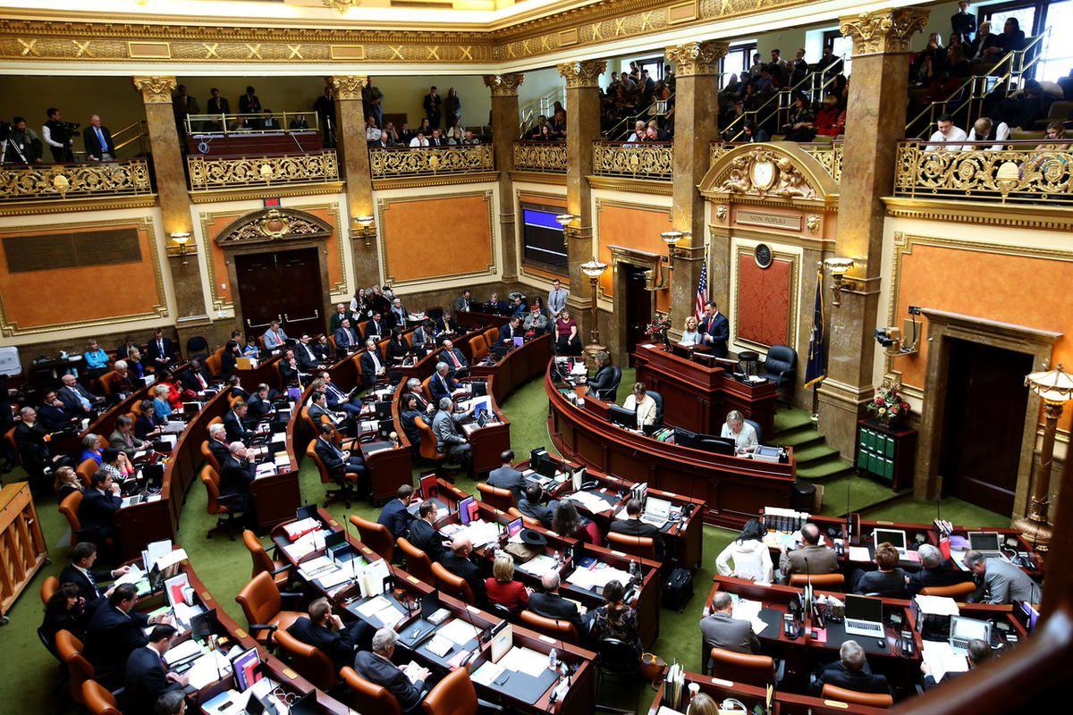 FILE — House Speaker Greg Hughes, R-Draper, addresses legislators in the House of Representatives on the first day of the Utah Legislature at the Capitol in Salt Lake City on Monday, Jan. 25, 2016.