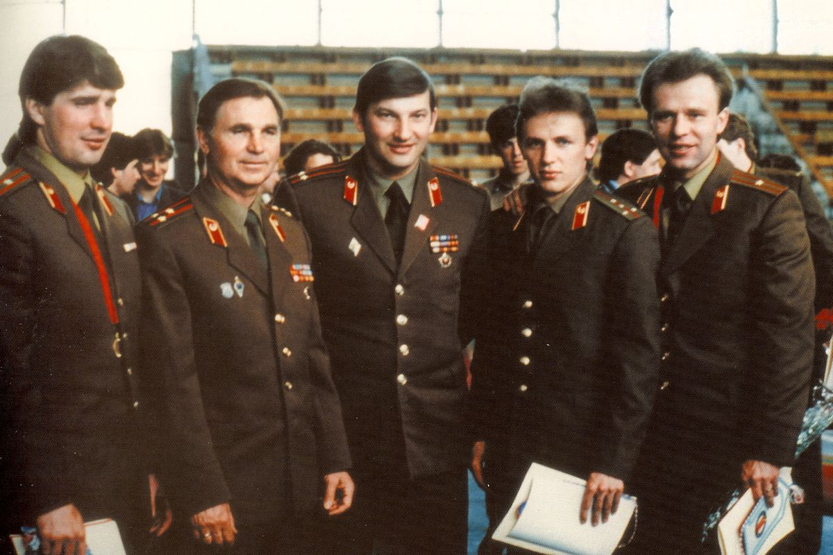 """The famed """"Red Army"""" Soviet hockey team of the 1980s."""
