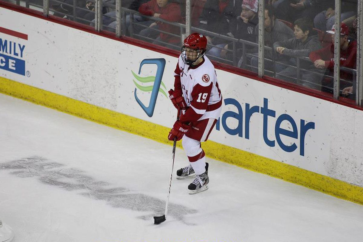 UW defenseman Jake McCabe is questionable for Thursday's contest
