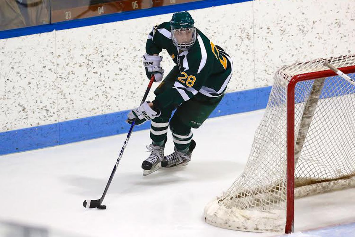 Joe O'Connor, in action for Hamden (CT) last season, is a repeat sophomore at Westminster School.